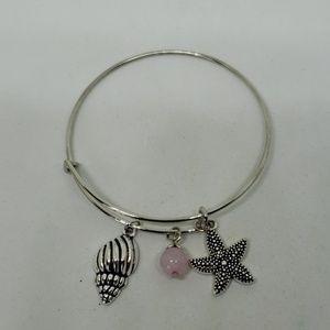 Seaside theme bangle bracelet